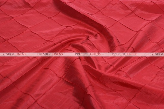 Pintuck Taffeta - Fabric by the yard - Red