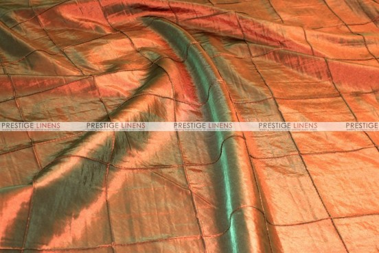 Pintuck Taffeta - Fabric by the yard - Rust