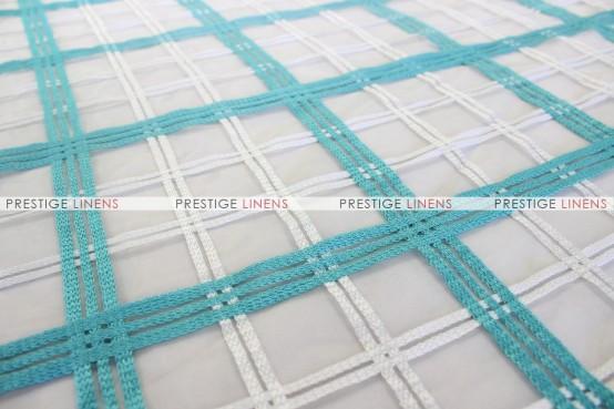 Plaid Sheer - Fabric by the yard - Aqua/White