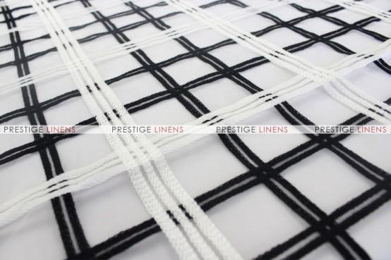 Plaid Sheer - Fabric by the yard - Black/White