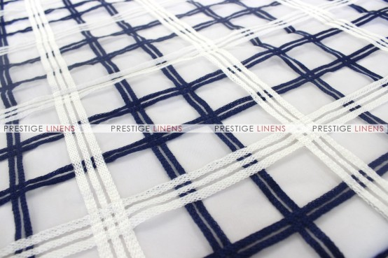 Plaid Sheer - Fabric by the yard - Navy/White