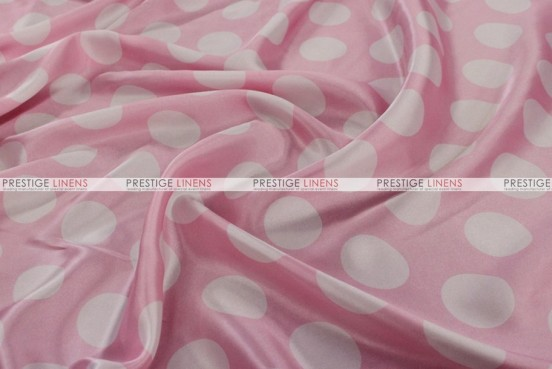 Polka Dot Charmeuse - Fabric by the yard - Pink/White