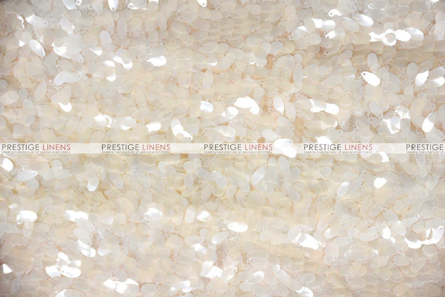 Raindrop Sequins Fabric By The Yard Champagne