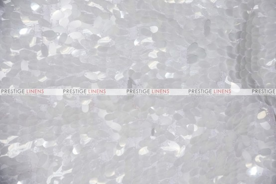 Raindrop Sequins - Fabric by the yard - White