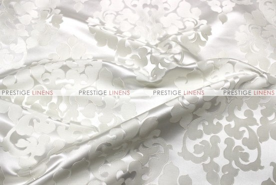 Regal Jacquard - Fabric by the yard - White