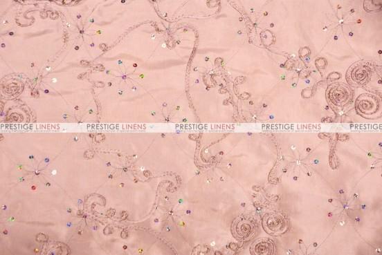 Ribbon Sequins Taffeta - Fabric by the yard - Blush