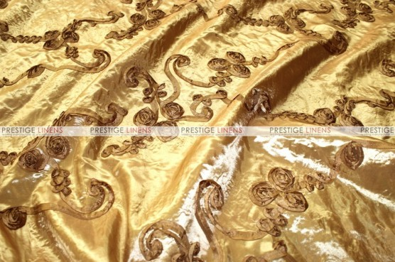 Ribbon Taffeta - Fabric by the yard - Gold