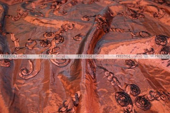 Ribbon Taffeta - Fabric by the yard - Rust