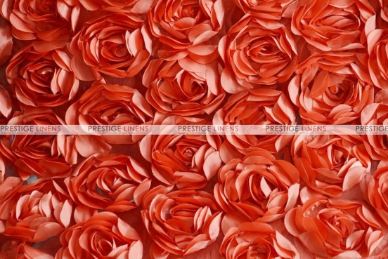 Rose Bordeaux - Fabric by the yard - Coral