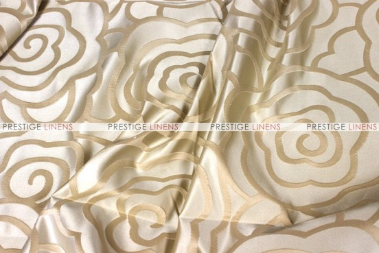 Rose Jacquard - Fabric by the yard - Beige