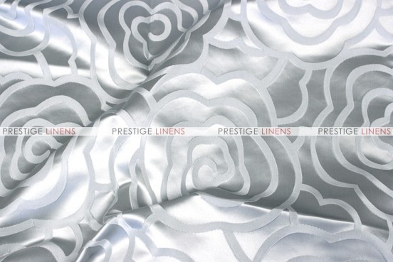 Rose Jacquard - Fabric by the yard - Silver