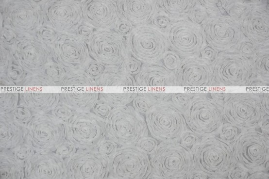 Rosette Chiffon - Fabric by the yard - White