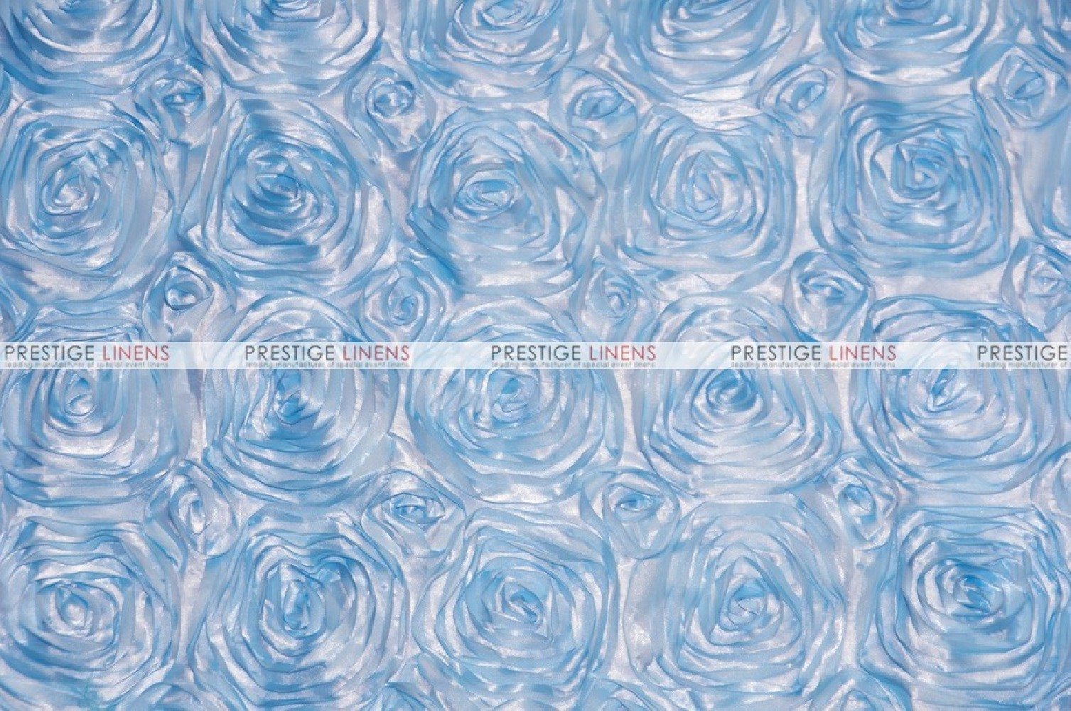 Rosette satin fabric by the yard baby blue prestige for Wholesale baby fabric
