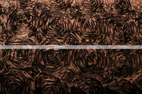 Rosette Satin - Fabric by the yard - Brown