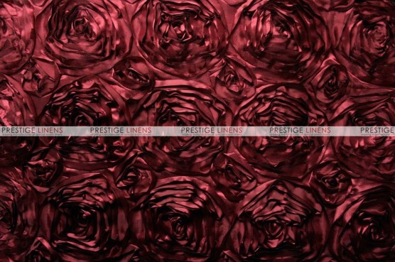 Rosette Satin - Fabric by the yard - Burgundy