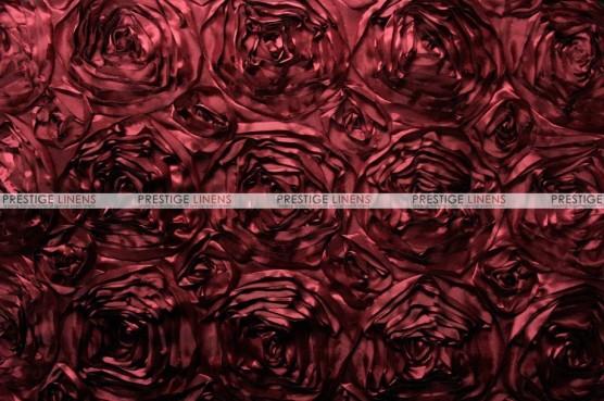 Rosette Satin - Fabric by the yard - Burgundy