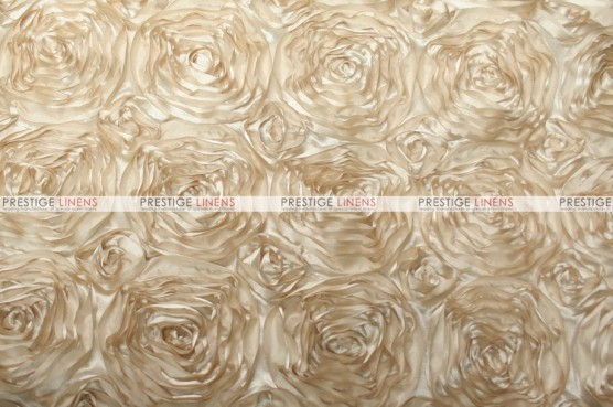 Rosette Satin - Fabric by the yard - Champagne