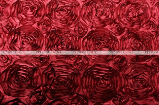 Rosette Satin - Fabric by the yard - Cherry