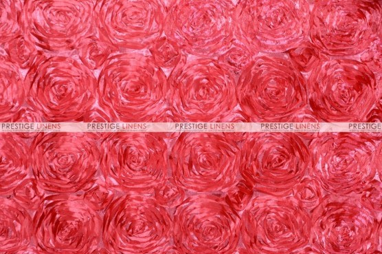 Rosette Satin - Fabric by the yard - Coral