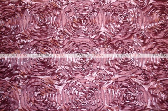 Rosette Satin - Fabric by the yard - Dk Mauve