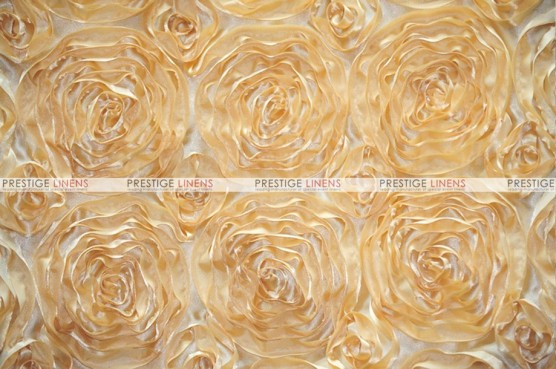 Rosette Satin - Fabric by the yard - Honey