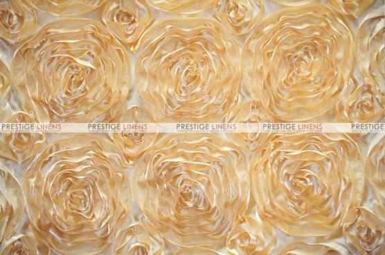 Rosette Satin - Fabric by the yard - Honey