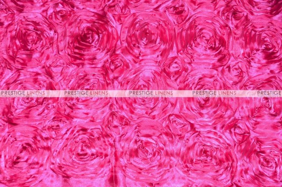 Rosette Satin - Fabric by the yard - Hot Pink