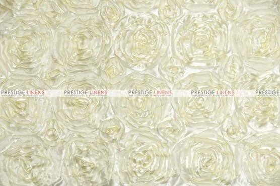 Rosette Satin - Fabric by the yard - Ivory