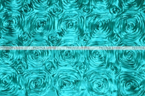 Rosette Satin - Fabric by the yard - Jade