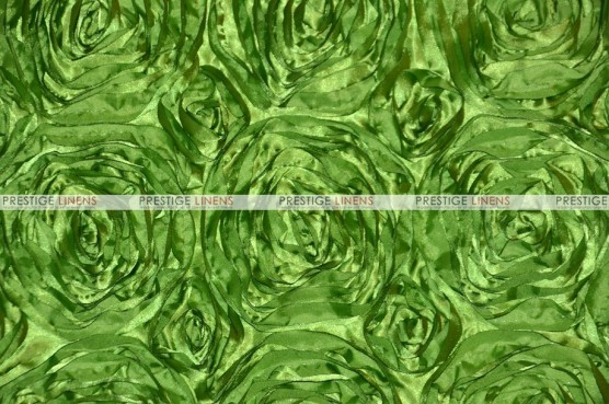 Rosette Satin - Fabric by the yard - Lime