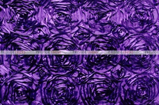 Rosette Satin - Fabric by the yard - Lt Purple