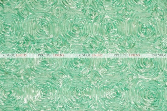 Rosette Satin - Fabric by the yard - Mint