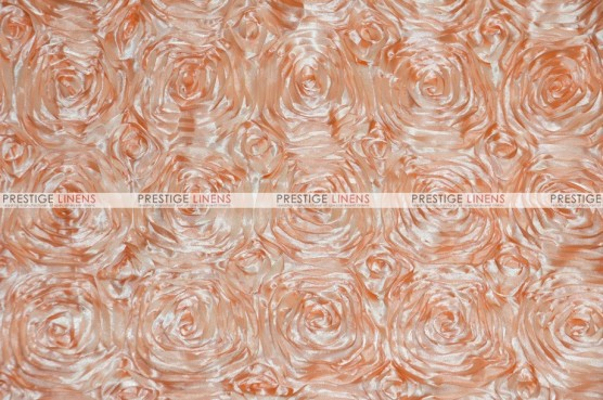Rosette Satin - Fabric by the yard - Peach