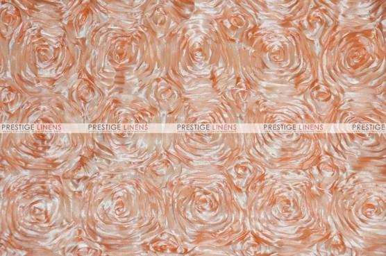 Rosette Satin - Fabric by the yard - Peach