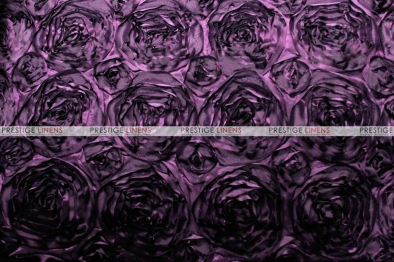 Rosette Satin - Fabric by the yard - Plum