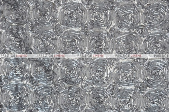 Rosette Satin - Fabric by the yard - Silver