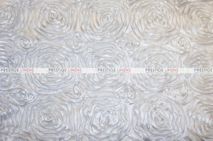 Rosette Satin - Fabric by the yard - White