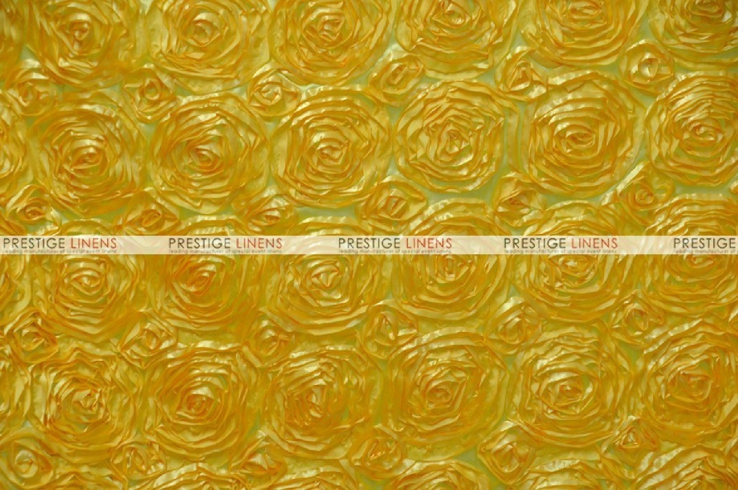 Rosette Satin Fabric By The Yard Yellow Prestige Linens