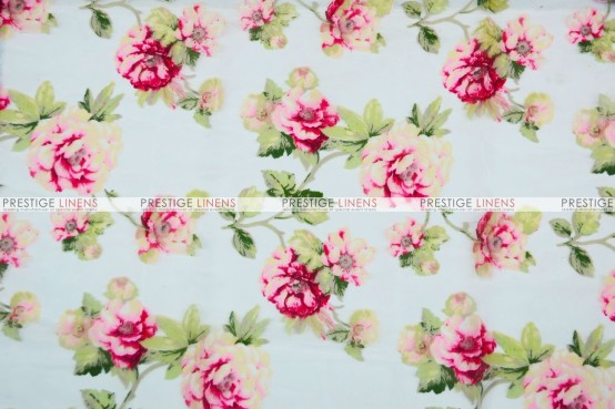 Sheer Rose Burnout - Fabric by the yard - Red
