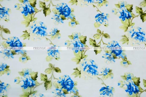 Sheer Rose Burnout - Fabric by the yard - Royal