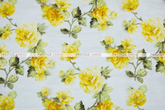 Sheer Rose Burnout - Fabric by the yard - Yellow