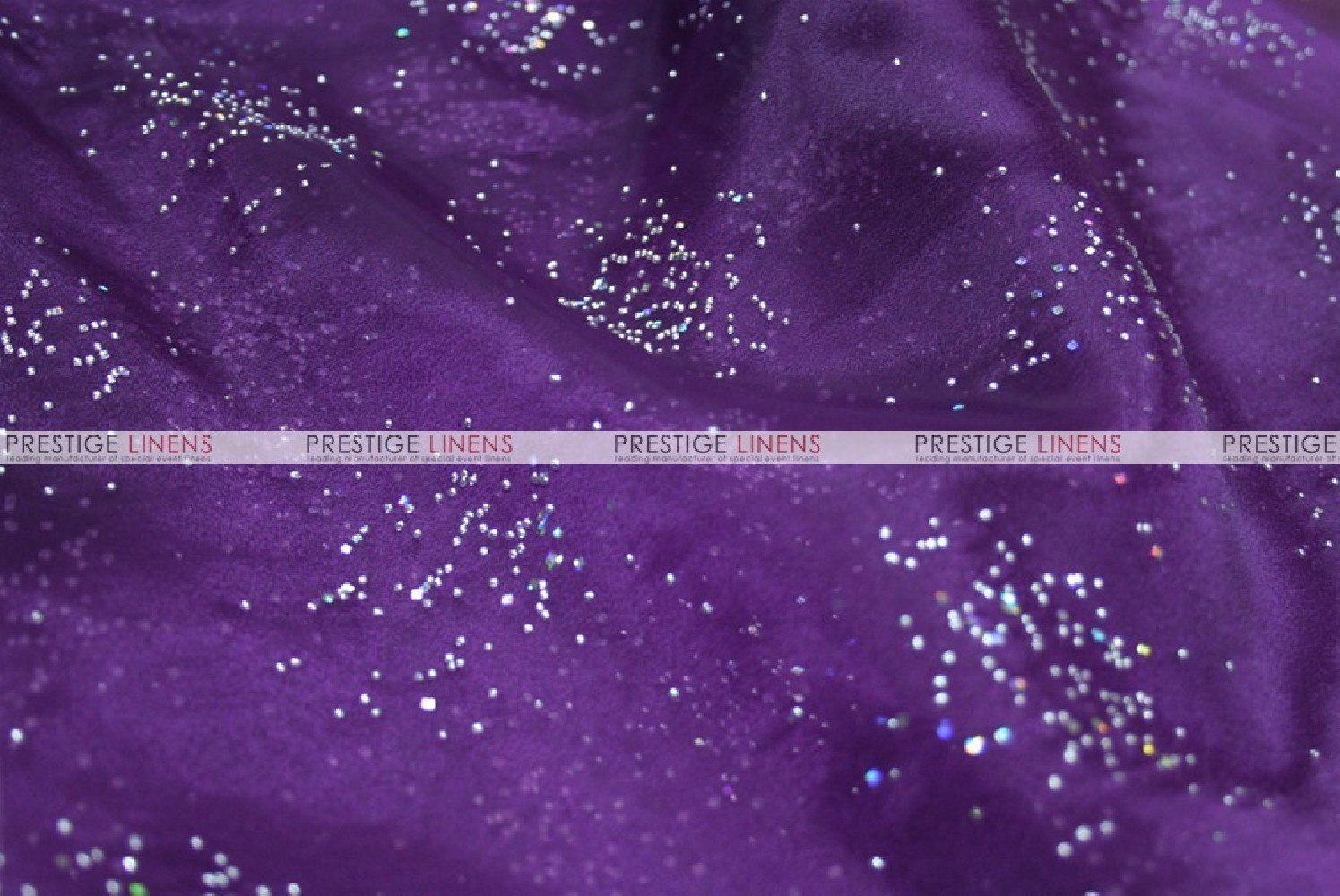 Sparkle Organza Fabric By The Yard 1034 Plum
