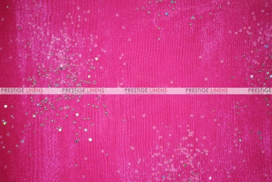 Sparkle Organza - Fabric by the yard - 528 Hot Pink