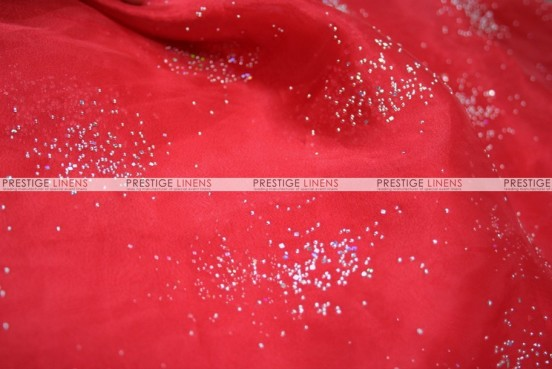 Sparkle Organza - Fabric by the yard - 626 Red