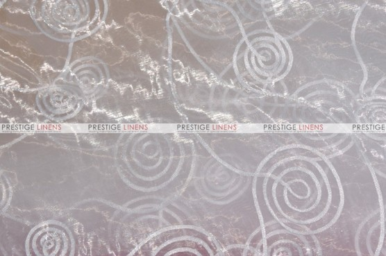 Spiral Ribbon Organza - Fabric by the yard - 126 White