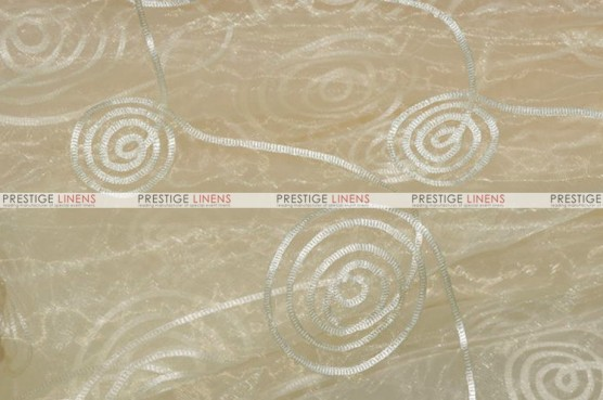 Spiral Ribbon Organza - Fabric by the yard - 128 Ivory