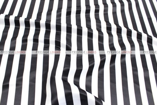 Striped Print Lamour - Fabric by the yard - 1 Inch - Black
