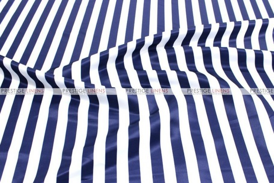 Striped Print Lamour - Fabric by the yard - 1 Inch - Navy