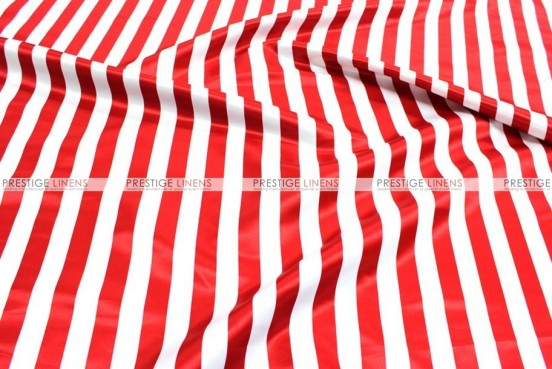 Striped Print Lamour - Fabric by the yard - 1 Inch - Red