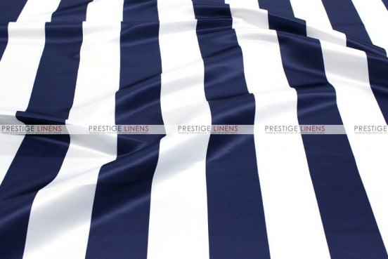 Striped Print Lamour - Fabric by the yard - 3.5 Inch - Navy